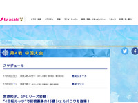 第4戦 中国大会 フィギュアスケートグランプリシリーズ世界一決定戦2019 テレビ朝日
